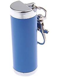 Quantum Abacus Mini-Aschenbecher/Taschenaschenbecher / Reiseaschenbecher - zylinderförmig, Zinklegierung, Karabiner, blau, 021-01 (DE)