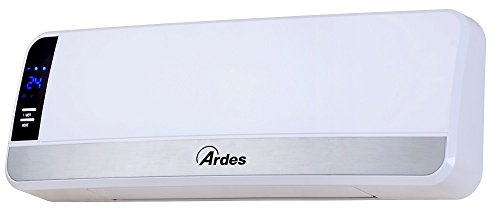 Ardes AR4W05 Termoventilatore Ceramico Murale Pareto Oscillazione Verticale, 2 Potenze con Telecomando...