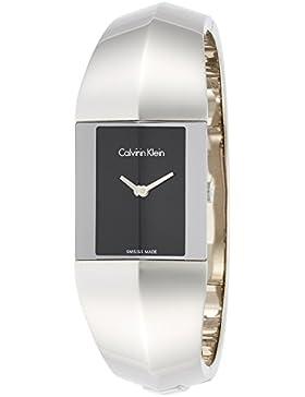 Calvin Klein Damenuhr Shape Edelstahl silber Spangenuhr K7C2M111