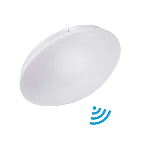 Lineway Deckenleuchte mit Bewegungsmelder 15W 6000K 1000lm LED Deckenlampe Wandleuchte Radar Bewegungssensor Sensorleuchte Innenbeleuchtung für Garage Korridore Balkonlicht Radar-paket