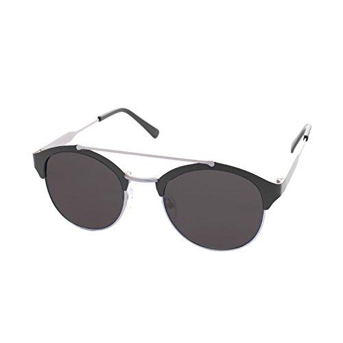 LooKLooK® Retro Vintage Style Fashion Unisex Sonnenbrille - Elegantes und Modernes Design mit Metallrahmen und Anti Glare Verspiegelte nicht Polarisierte Brille 100% UV400 Sonnenschutz Männer Frauen