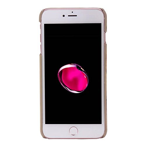 Wkae Case Cover iPhone Case Plus 7, Veine du bois Case Motif, étui en cuir PU Housse TPU souple avec dragonne Support Wallet Case pour Apple iPhone7 plus by DIEBELLEU ( Color : 2 , Size : Iphone 7 Plu 6