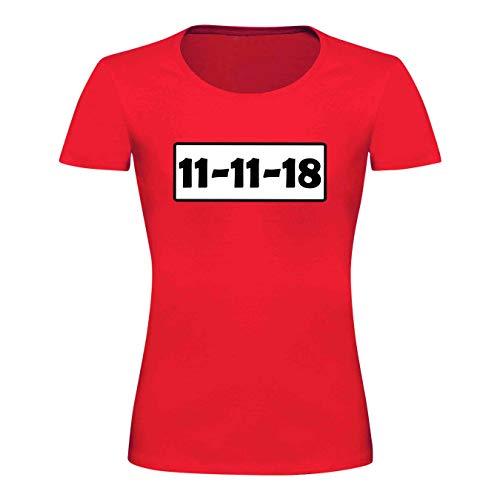 r Kostüm-Set Deluxe+ Cap Maske Karneval Damen XS - 3XL Fasching JGA Sitzung Weiberfastnacht, Größe:3XL, Logo & Set:11.11./Shirt only (11.11.XX/Shirt ohne Zubehör) ()