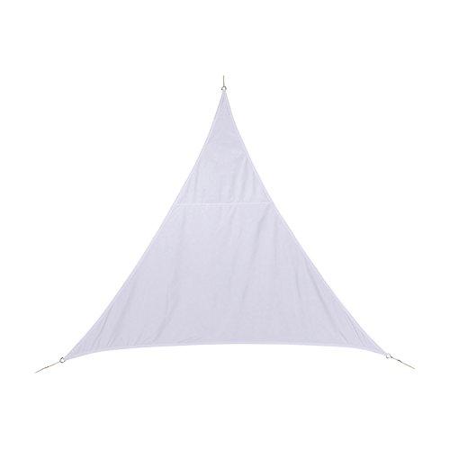 Dreieckiges Sonnensegel 2 x 2 x 2 m aus wasserabweisendem Stoff - Farbe WEIß