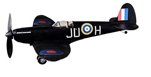 Supermarine Spitfire Nightfighter, komplettes Vintage-Modell mit Gummimotor, aus Balsaholz, Flugzeug-Set das wirklich fliegen kann (Flugzeuge Vintage Spielzeug)