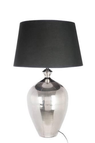 lampe chic à ligne chrome et abat-jour noir 37X37X61CM J-Line