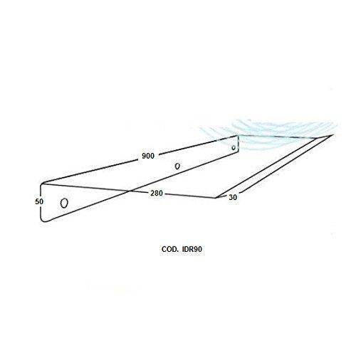 vecamco Clima Plus-Deflettore per unità interna aria 900x 300x 30mm