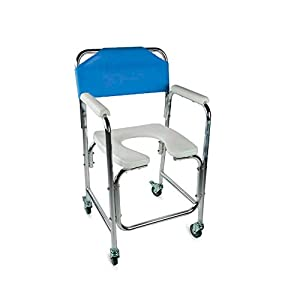 Mobiclinic, Manzanares, Silla para WC o Inodoro para Minusválidos, Discapacitados, Ancianos, Plegable, Reposabrazos…