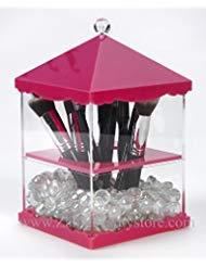Zahra Beauty Bürstenhalter penthouse- Acryl Pinsel-verschiedene Farben sind erhältlich... zum Patent angemeldet Rose (hot pink) -