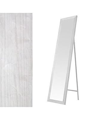 Standspiegel in weiß-mdf (37x2x157) Special Black Friday