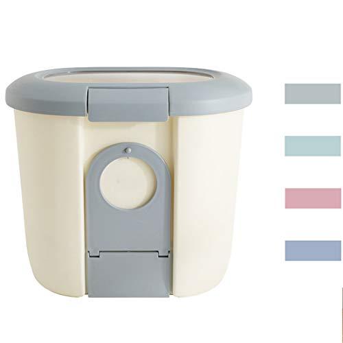 Futteraufbewahrung für Katzen, hergestellt aus hervorragenden umweltfreundlichen Materialien, Verfügbar in 4 Farben, Mit Einer Schüssel,Grau,27 * 15 * 30CM