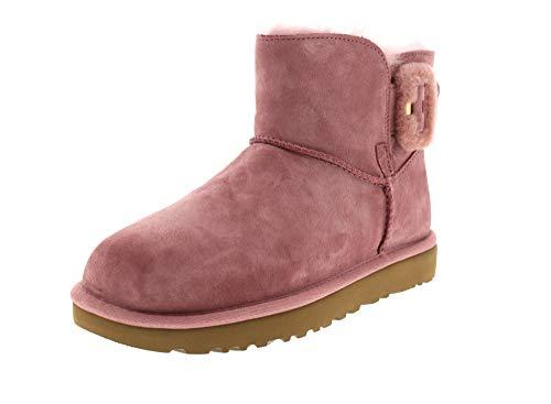 UGG - Stivali Mini Bailey Fluff Buckle - Pink Dawn, Taglia:38 EU