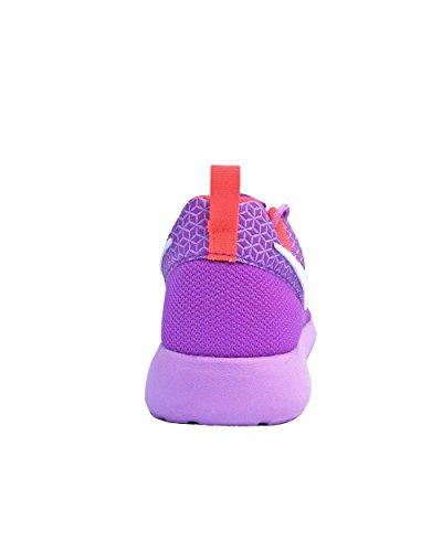 Nike Roshe One (Gs) Scarpe da Ginnastica, Unisex - Bambino Multicolore (Vvd Prpl / White-Fchs Glw-Brght)