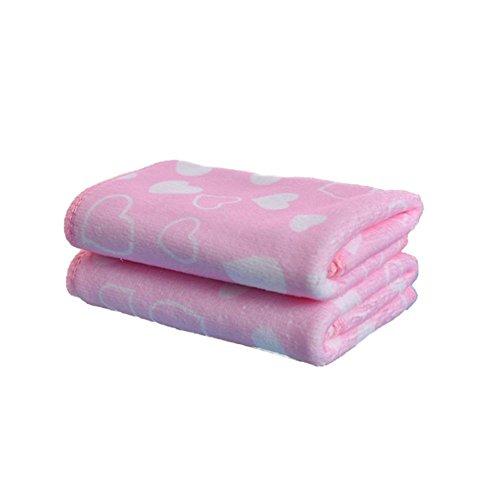 Kalaokei Baby Kids Love Herz Muster Soft Mikrofaser Waschlappen Gesicht Waschen Handtuch Rose