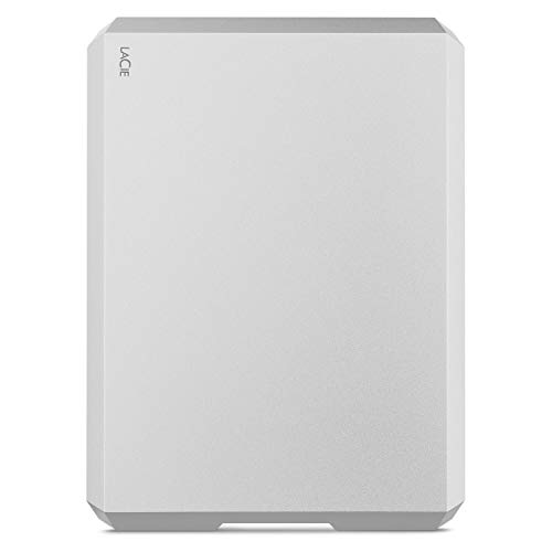 LaCie MOBILE DRIVE Moon Silver, tragbare externe Festplatte 2 TB, 2.5 Zoll, USB-C, für Mac & PC, Modellnr.: STHG2000400