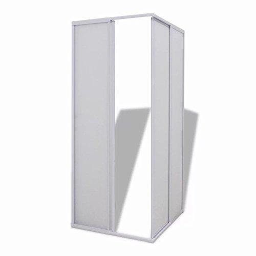 vidaXL Duschwand Duschabtrennung Duschkabine Handtuchhalter Faltwände Dusche 80 x80cm