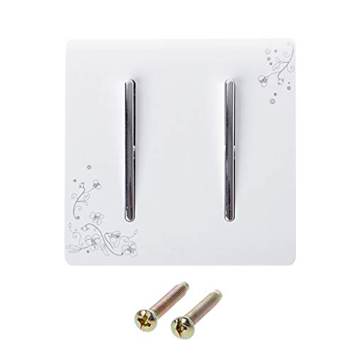 BIlinli Luxus Wand Lichtschalter 2 Gang 1 Way Elfenbein Weiß Kurze Kunst Weben AC 110-250 V Panel Push Button -