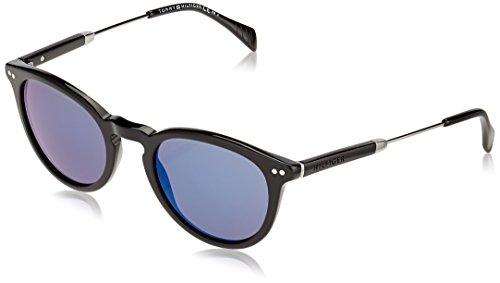 Tommy Hilfiger Unisex-Erwachsene TH 1198/S XT 7P0 51 Sonnenbrille, Schwarz (Black Ruthen/Blue),