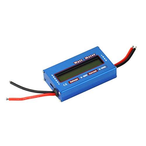 73JohnPol Digital LCD Bildschirm 100A 60V DC RC Hubschrauber Flugzeug Batterie Power Analyzer Wattmeter Balancer für RC Hobby (Farbe: blau) - 100a/3-bank
