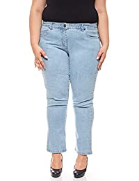 f060781b101e Sheego Denim Stretch-Jeans mit Stickerein Jeans-Hose 5-Pocket-Jeans Große