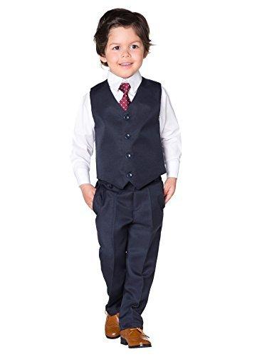 Shiny Penny Jungen Anzug, Navy, 8 Jahre (Navy Jungen Anzug)