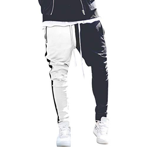 YueLove Sport Hosen für Herren Mode Männer Sport Patchwork Farbe Verband Beiläufige Lose Jogginghose Drawstring Hose Jogginganzug Fitness Hose -