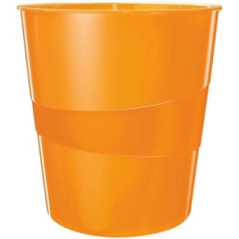 Leitz WOW - Papelera, color naranja metalizado