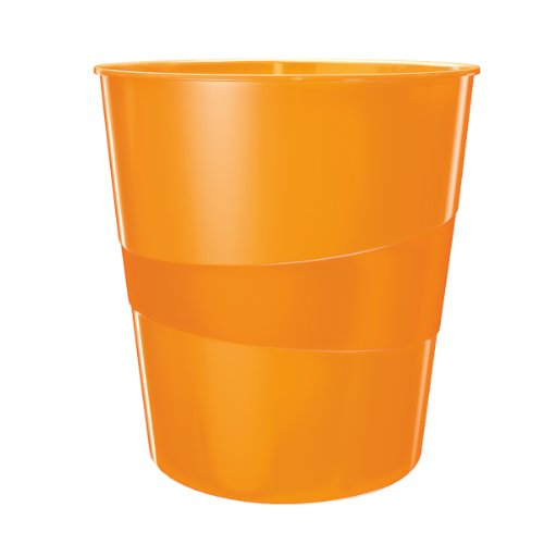 Leitz Papierkorb, 15 Liter, Kunststoff, Orange Metallic, WOW, 52781044