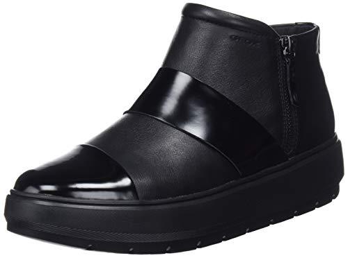Geox D Kaula E, Botines para Mujer, Black Black C9999, 36 EU