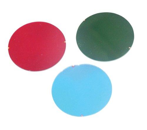 Electrovision - Filtre dichroïque 50mm pour projecteurs Par 16 ou jeux de lumière basse tension - Couleur: bleu