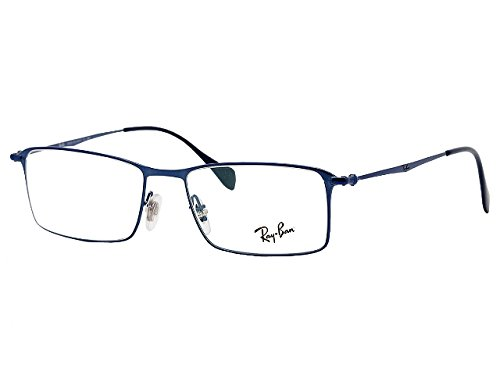Ray Ban Optical Rx6290 Shiny Blue Metallgestell Brillen, 52mm