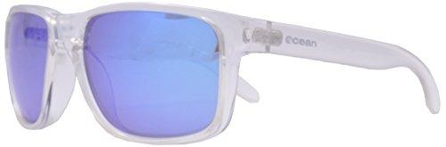 Ocean Sunglasses - Blue Moon - lunettes de soleil polarisées - Monture : Blanc Transparent - Verres : Revo Bleu (19202.15)