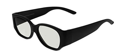2 x Passive 3D Brille Polarisation REAL-3D Brillen Glasses für Kino und TV Schwarz