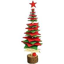WUFANGFF Bricolaje Creativo 3D Mini Estéreo De Árbol De Navidad Árbol De Navidad Fieltro Escritorio Decoración
