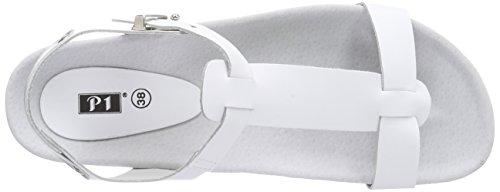 P1 - 141002, Sandali con platea Donna Bianco (Bianco)