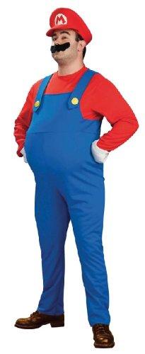 Super Mario Komplett-Kostüm mit Bauch für Erwachsene - Gr. L