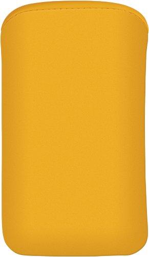 Cellux Mikrofaser Tasche Größe XL (Galaxy SIII, S4, Nokia 625/900/925, Blackberry Z10, HTC One, LG Optimus 4X HD, Huawei Ascend G510/ P6 und weitere Geräte) gelb