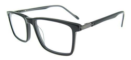 OCCI CHIARI Unisex Rectangular Acetate Eyewear Frames With Clear Lens W-CETTI (Black/Grey