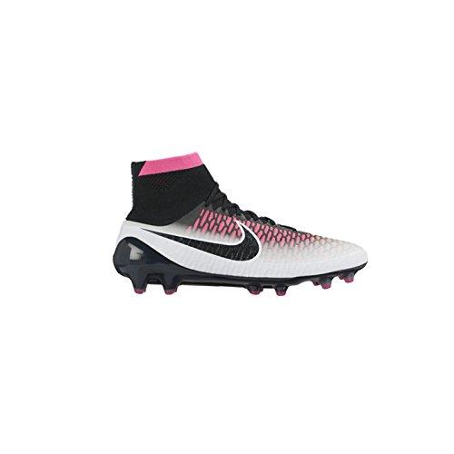 Nike Magista Obra (FG), Chaussures de Football Compétition Homme Blanc Cassé - Blanco (Blanco (White/Black-Pink Blast-Volt))