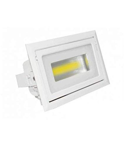 FOCO DOWNLIGHT LED BASCULANTE RECTANGULAR 40W 3000K 3600LM LED CITIZEN 3 AÑOS...
