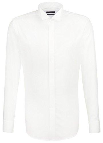 Smokinghemd Seidensticker, weiß, Kläppchenkragen, Splendesto, 100% BW + 1 GRATIS Fliege Weiß