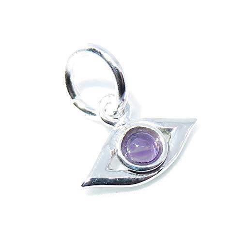 Colgante de plata de ley 925 con diseño de ojo turco Swcha64