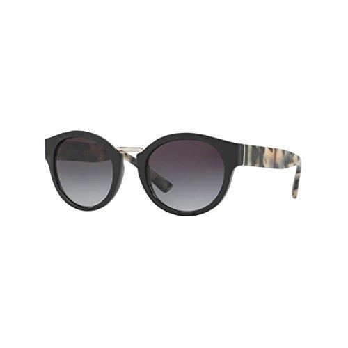 Burberry Von Für Herren Sonnenbrille (BURBERRY Unisex Sonnenbrille BE4227, Schwarz (Gestell: Schwarz, Gläser: Grau-Verlauf 36098G), Small (Herstellergröße: 50))