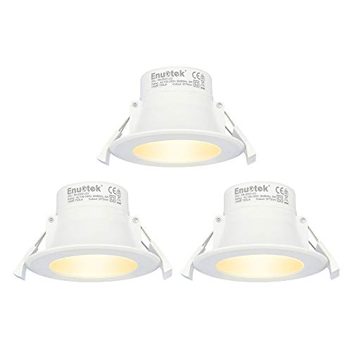 Lamparas Focos Empotrables LED Techo 8W Downlight LED Luz Calida 3000K Agujero...
