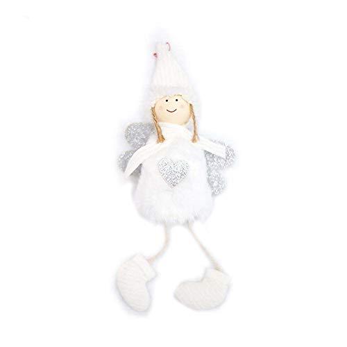 EisEyen Christbaumschmuck Weihnachtsbaum Anhänger Dekoration Plüsch Puppe für Haus, Tür, Weihnachtsdeko Schutzengel