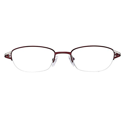 Zhuhaixmy Frauen Brillen Halbrahmen Runde Lesebrille Metallrahmen Harz Linse