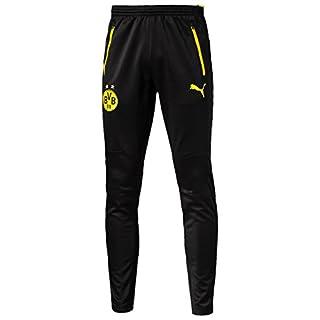 Puma BVB Training Pants with Pockets Pantalon Homme, Black-Cyber Yellow, FR S