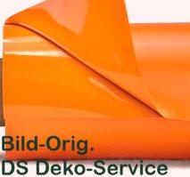 DS Deko-Service Lackfolie Light, Orange, 150my Profiqualität, Rolle 30x1.30m, Lieferung Frei Haus (Orange Light)