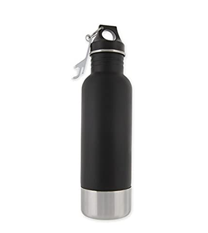 Bottle Armour Black Bottle Insulator with Bottle Opener
