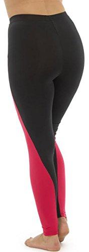 Tom Franks - Pantalon de sport - Leggings - Femme Rose - Black-Pink